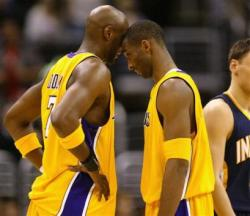 kobe odom capt. .pacers lakers basketball las110