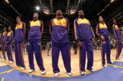laker team during the national anthem.jpg