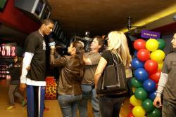 Trevor Ariza interviewed by women reports in tight jeans at FSN.jpg