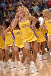 Laker Girls perform during a playoff game.jpg