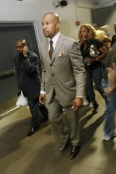Derek Fisher and his wife leaves Staples Center after game 4.jpg
