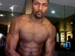 Ron Artest without a shirt on after working out.jpg