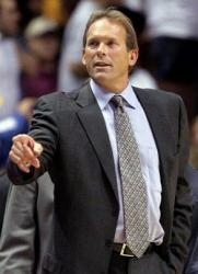 Kurt Rambis in a black suit as a Lakers assistant coach.JPG