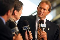 Kurt Rambis is interviewed in Minnesota after being introduced as head coach.JPG