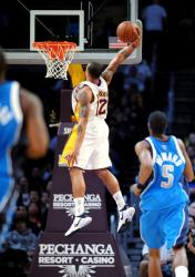 Shannon Brown elevates for a one handed slam vs the Mavs.JPG