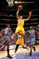 Shannon Brown elevates for a dunk against the Bobcats.JPG