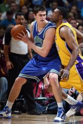 DJ Mbenga bodies up against Darko Milicic.JPG