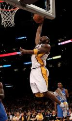 Kobe Bryant goes in for a dunk along the baseline vs the Thunder in Playoffs Game 1 2010.JPG