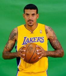 Matt Barnes clutches the basketball during Lakers Media Day 2010.JPG