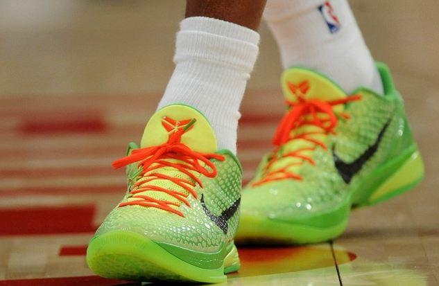 Kobe Bryant neon green Nike basketball
