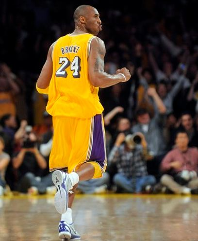 Kobe Bryant Purses His Lips And Celebrates In A Lakers Home