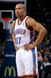 Derek Fisher in a Oklahoma Thunder white home jersey.JPG
