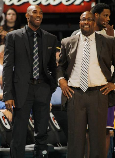 Kobe Bryant And Mike Brown Both In Suits Jpg