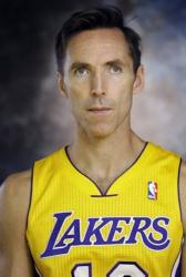 Steve Nash poses in his Laker uniform on media day 2012.JPG