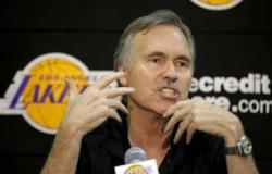 Mike D'Antoni speaks to the media during his introduction press conference.JPG