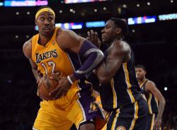 Dwight Howard looks to spin and elevate inside against the Pacers.JPG