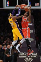 Dwight Howard powerful 2 handed dunk inside against the Bucks in Staples Center.JPG