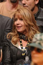 Jeanie Buss watches the game from the stands.jpg