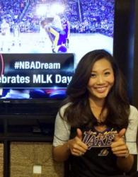 Chinese Laker Girl Gives 2 Thumbs Up.JPG