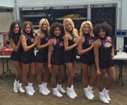 2015-16 Laker Girls in Purple Dress in Los Angeles