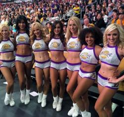 Laker Girls 2015-16 Group Photo at Staples Center in November 2015.JPG