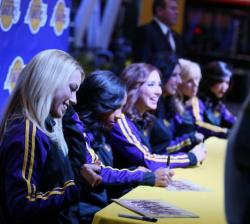 Group of Laker Girls Signing Autographs in 2016.JPG